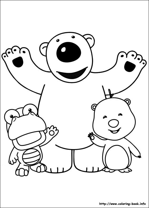 Pororo coloring picture felt colores dibujos for Pororo coloring pages
