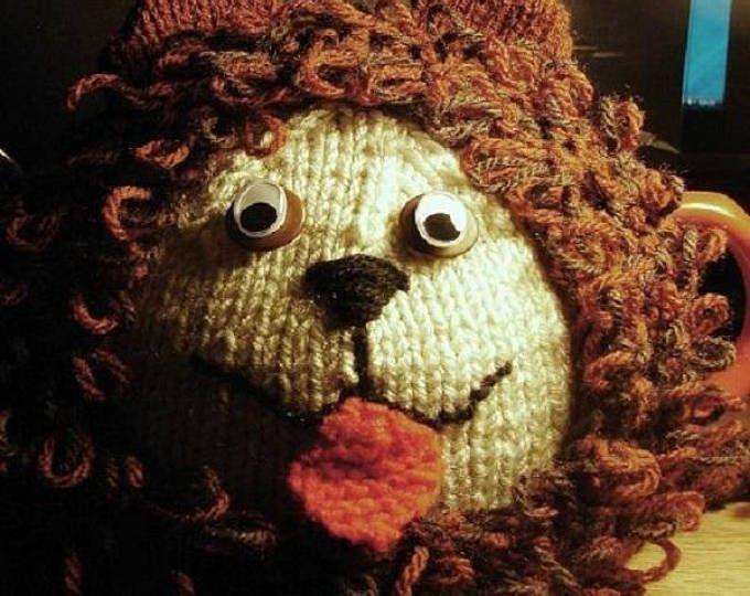Knitted Tea Cosy Leo The Lion Tea Cosy Retro Tea Cozies