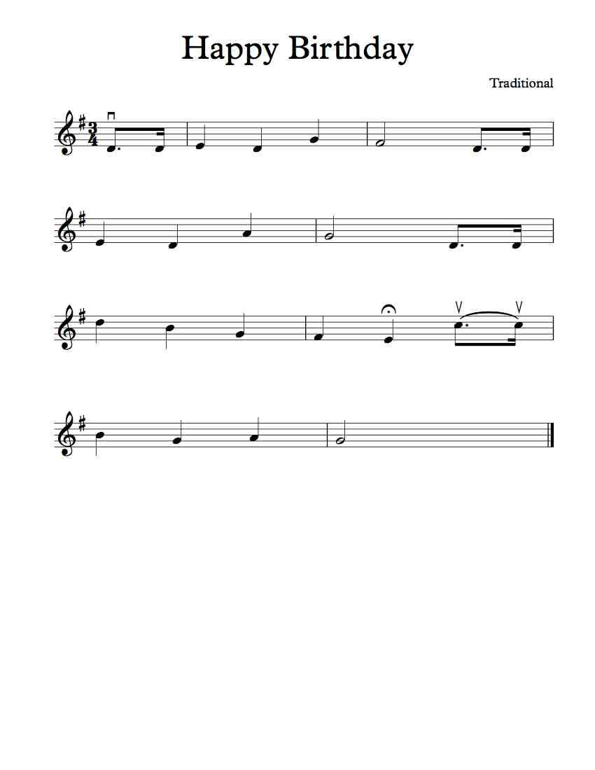 happy birthday letter notes for violin free violin sheet happy birthday to you free 16141