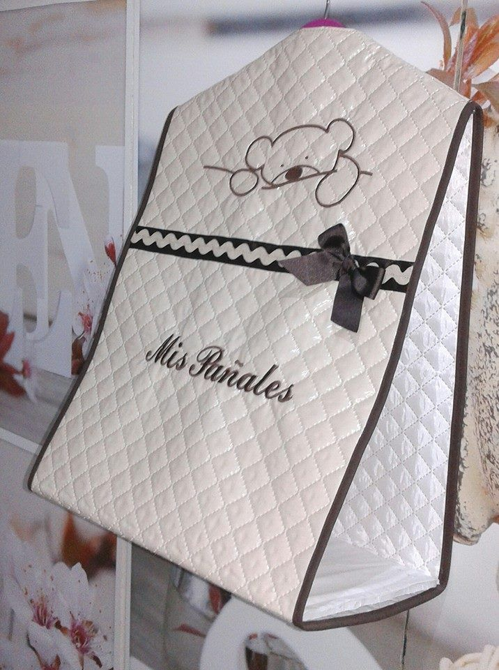 Photo of PERSONALIZED DIAPER STORAGE BAG For sale at www.bordado