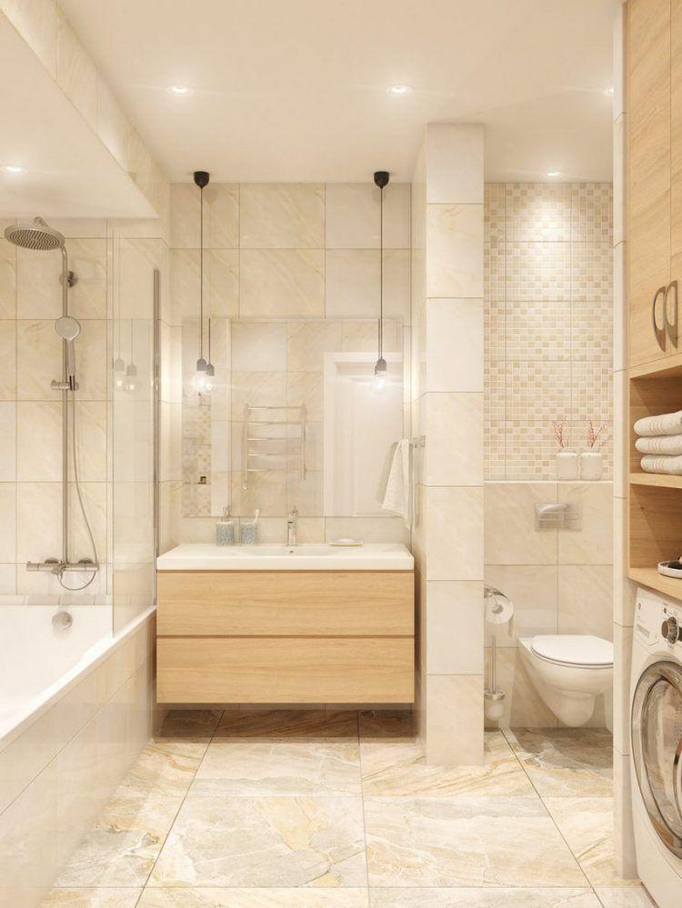 45m2, két szoba - kék árnyalatok, nappali és konyha L alakú térben ...