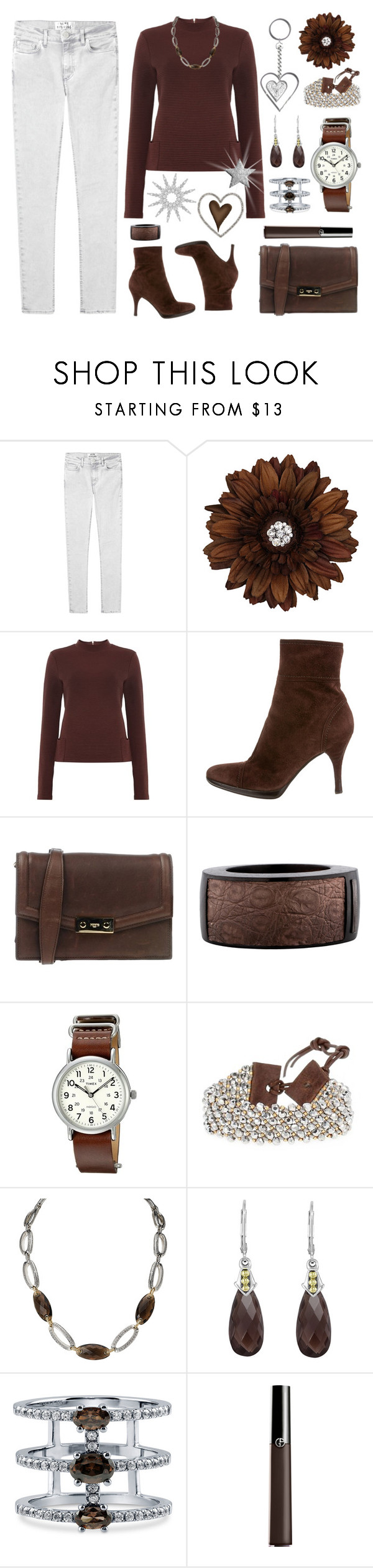 """Ready for Friday!"" by cindy-for-fashion ❤ liked on Polyvore featuring Acne Studios, Oui, Sergio Rossi, Ports 1961, Burberry, Timex, Chan Luu, Avanti, Lagos and BERRICLE"