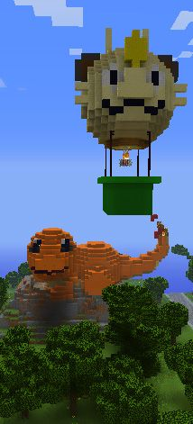 Charmander Waiting For Damian While Team Rocket Fly Past