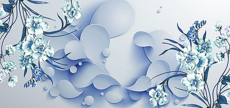 Fashion 3d Pattern Floral Wallpaper Background Flores Abstratas Papel De Parede De Fundo Estampa Para Canecas