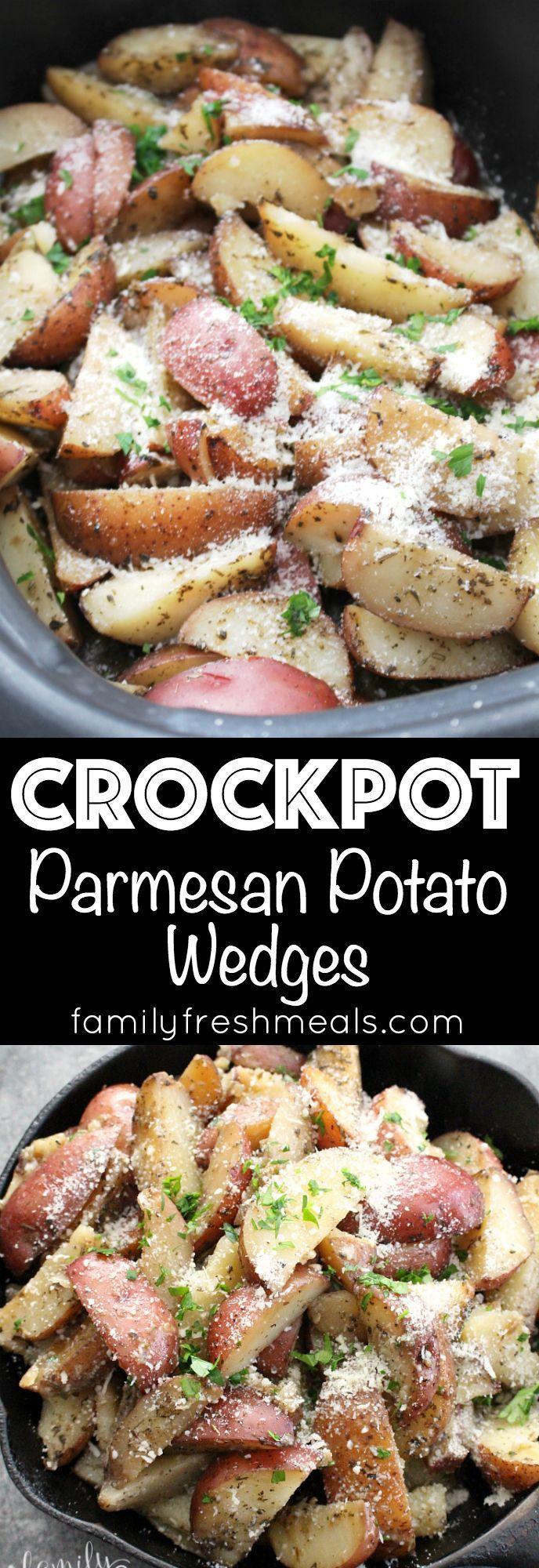 crockpot parmesan potato wedges rezept crock pot essen kochen essen und trinken und lecker. Black Bedroom Furniture Sets. Home Design Ideas