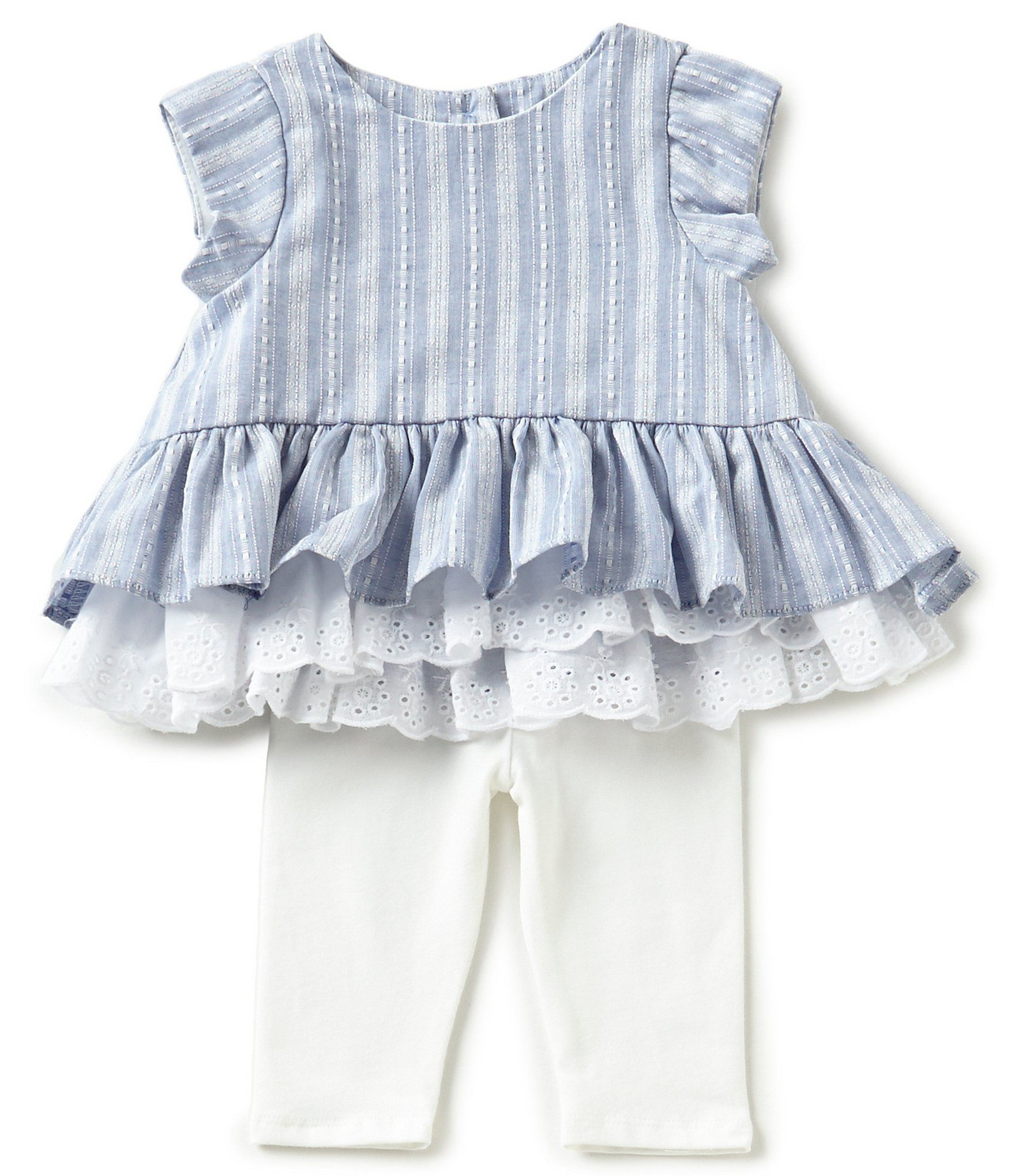 Pippa and Julie Baby Girls Newborn24 Months Striped Peplum Top and