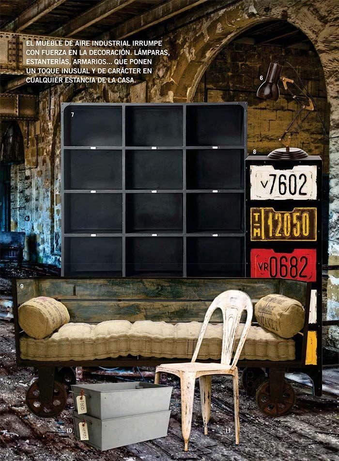 Las claves del estilo factory en casa campo muebles for Muebles para casa de campo