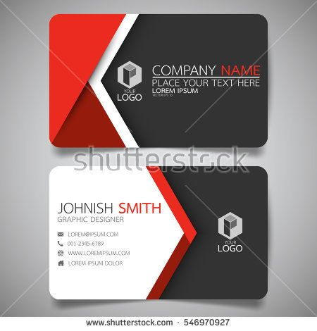 Pin by america const flooring on cidar box pinterest design red modern creative business card and name cardhorizontal simple clean template vector design layout in rectangle size reheart Choice Image