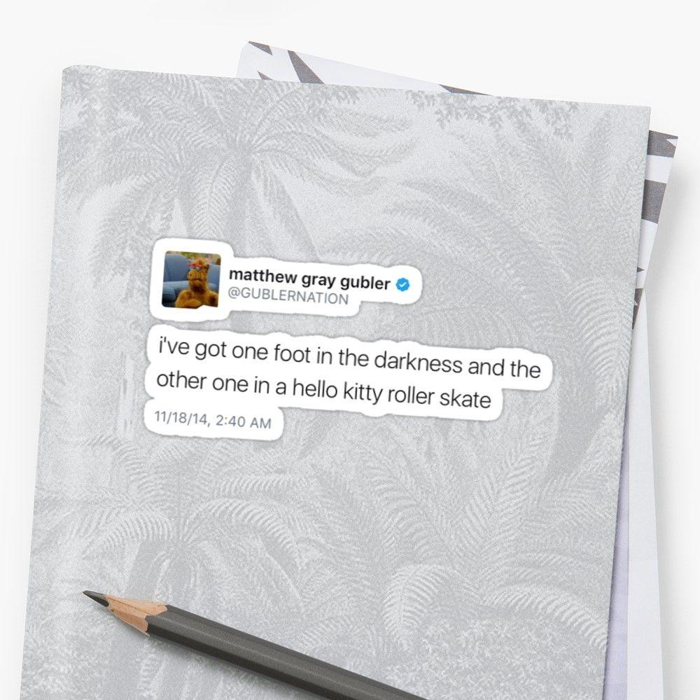 Matthew gray gubler tweet stickers by msassatelli redbubble