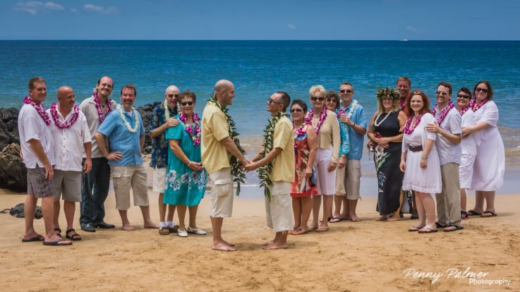 Congratulations Michael and Jason! Gay Wedding performed by Rev. Darci Palmer from Aloha Maui Dream Weddings