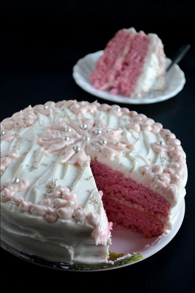 Organic Strawberry Cake From Scratch