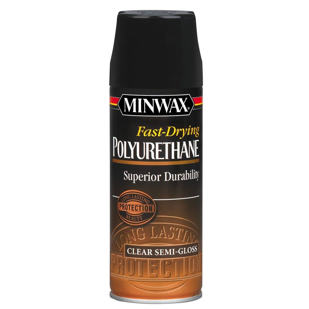 Minwax Semi Gloss Fast Drying Polyurethane Finish Aerosol Aerosol Clears In 2020 Minwax Minwax Polyurethane Cherry Wood Stain
