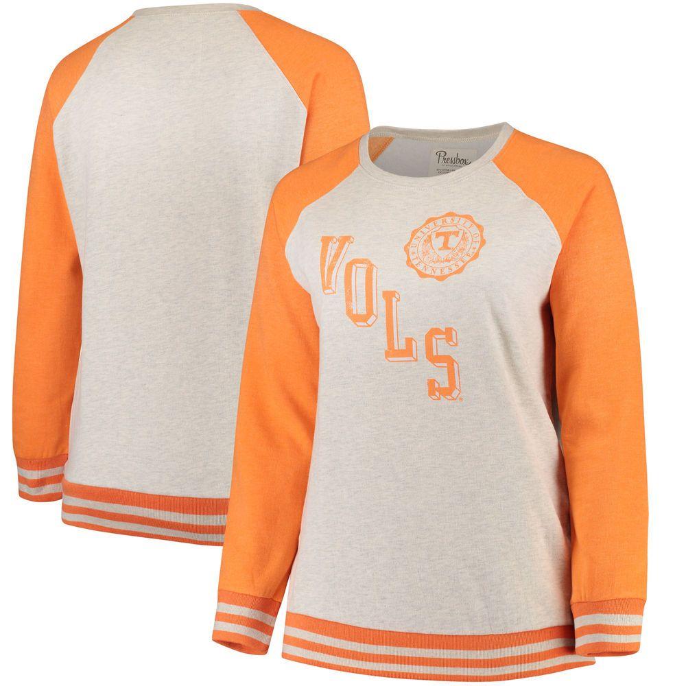 Women S Pressbox Cream Tennessee Orange Tennessee Volunteers Plus Size Sundown Vintage Pullover Sweatshirt Sweatshirts Women Vintage Pullovers Pressbox [ 1000 x 1000 Pixel ]