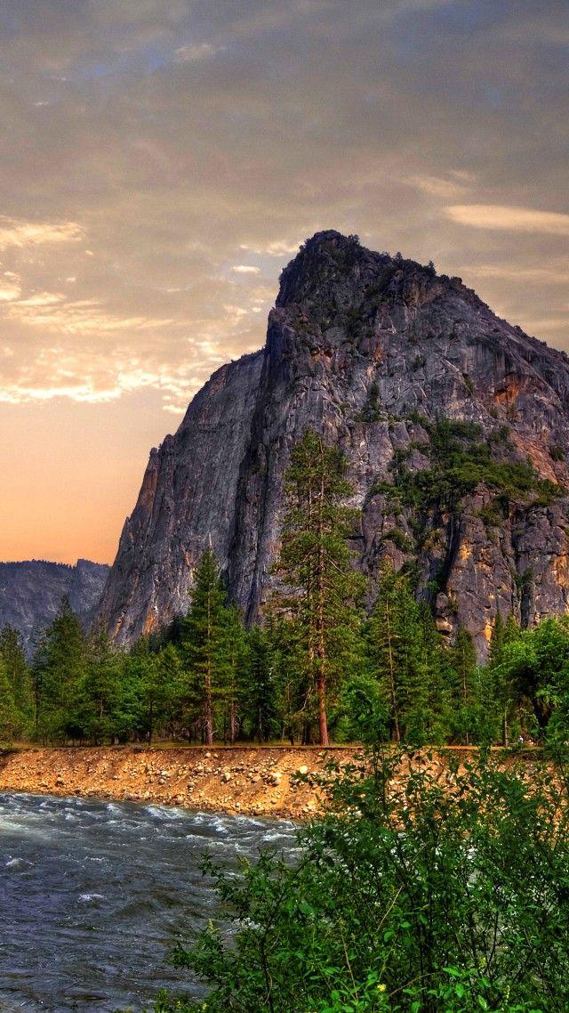 Yosemite, 5k, 4k wallpaper, 8k, forest, OSX, waterfall