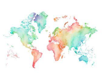 pastel world map