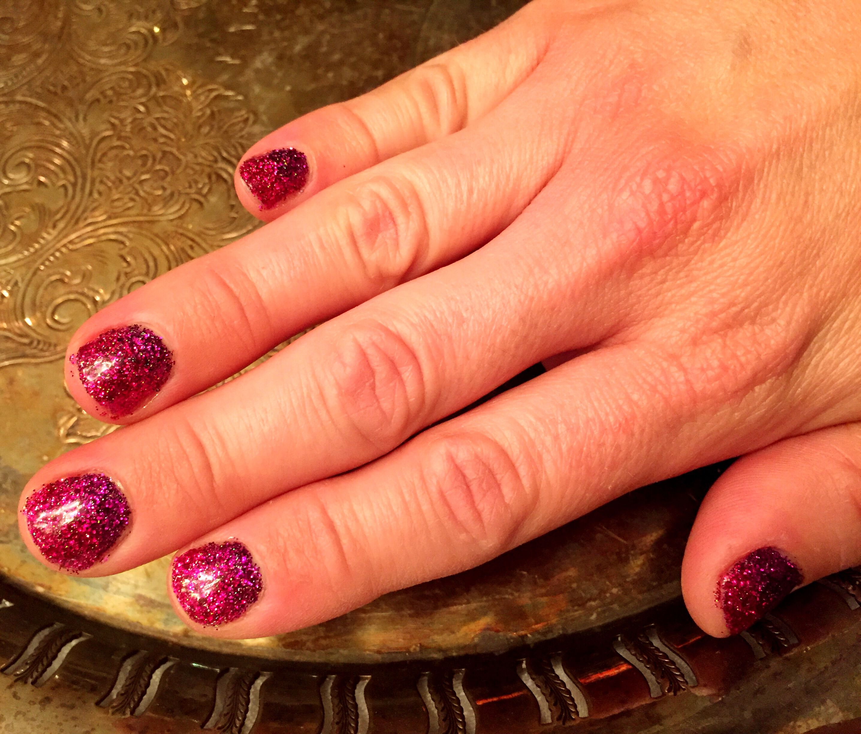 Glitter nails purple to link fade. Martha Stewart glitter with ...