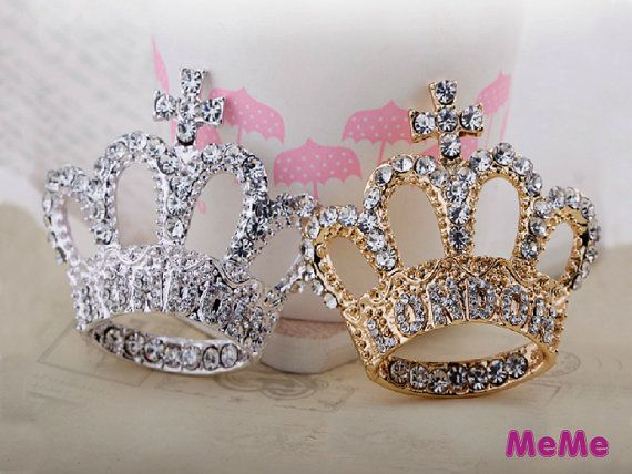 1 Pc London Crown Luxury Bling Rhinestone Crystal Alloy Accessories Stud Charm Kawaii Cabochon Deco Den on Craft Phone Case DIY Deco AA1211