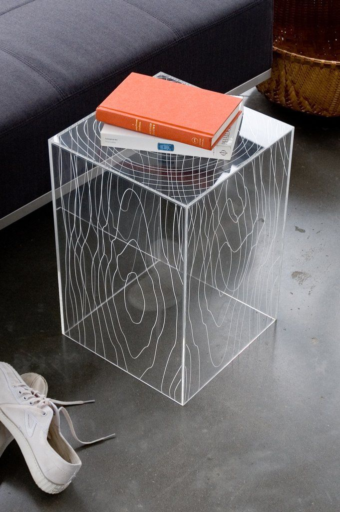 Timber Side Table Acrylic furniture, Timber table