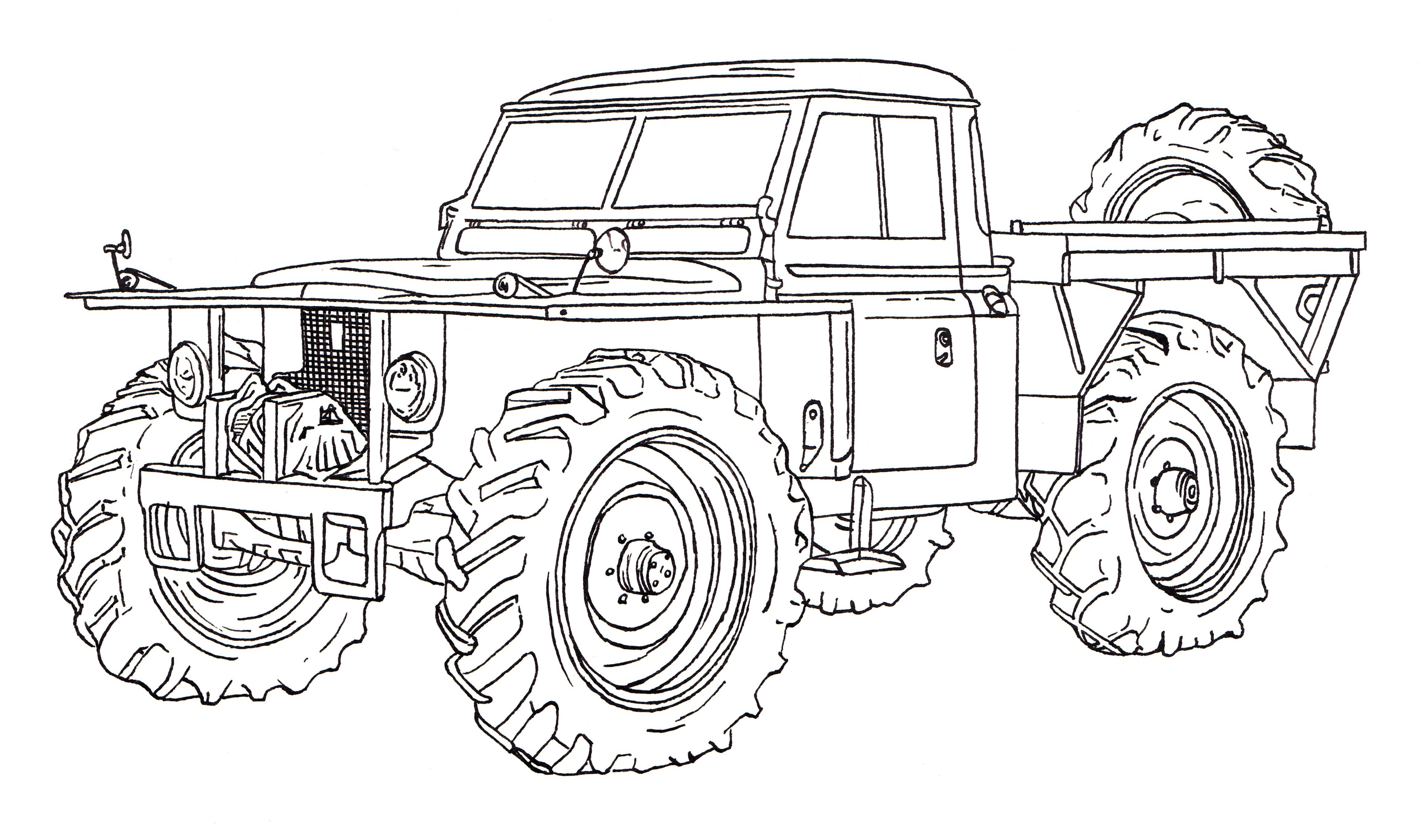 Land Rover \'Forest Rover\' Ink Drawing | Model / FOREST ROVER ...