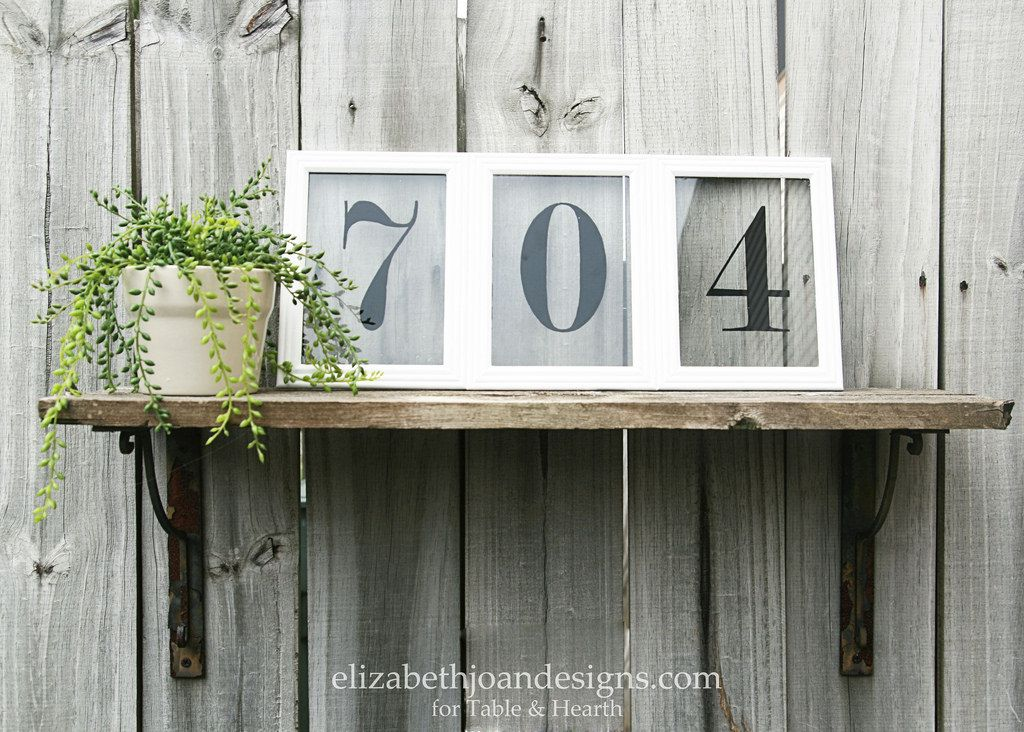 What a cute housewarming gift idea!! This cute house numbers art is ...