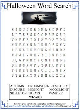 Halloween Word Search | Halloween Worksheets, Crafts, and Activities ...