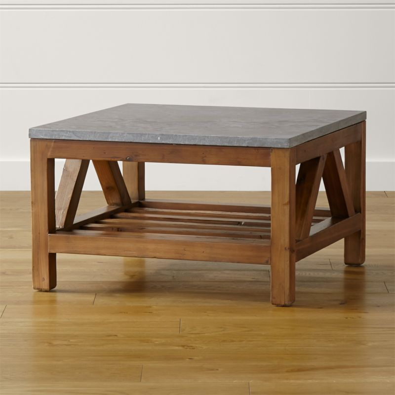 Shop Bluestone Square Coffee Table Each Unique Table Base Is