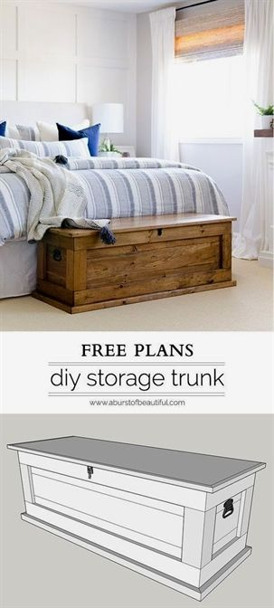 This DIY blanket storage chest will fit beautifully into any space - Used Bedroom Sets