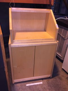 STAND WITH STORAGE COMPARTMENT 48H X 30W X 27D