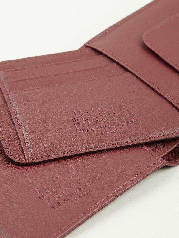 Maison Martin Margiela 11 Men's Laser Cut Leather Wallet   oki-ni
