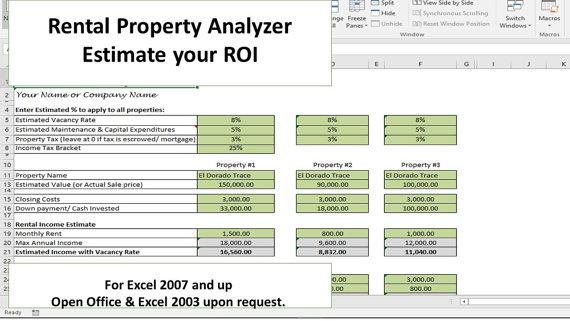 Investment Property Analyzer, Rental Property Calculator ...