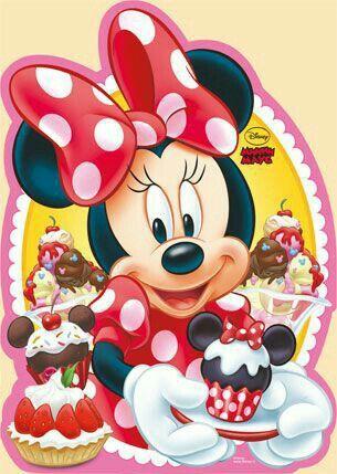 Minnie Mouse Pastel Cake Torta Sorpresa Tarjeta Feliz