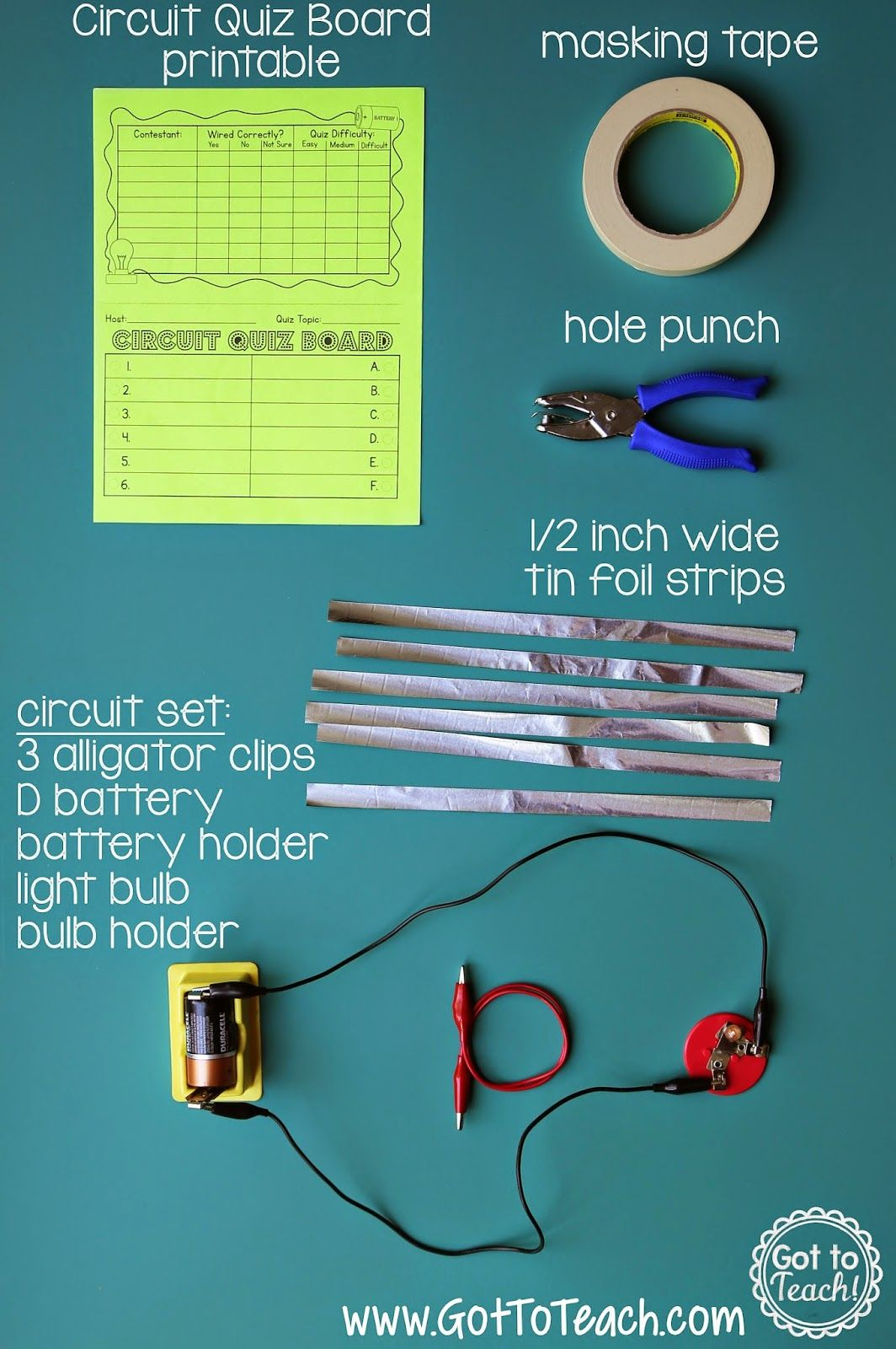Electrical Circuit Game Show Lesson Bulletin Board Ideas 4th Grade Science Worksheets Electric Got To Teach Fourth