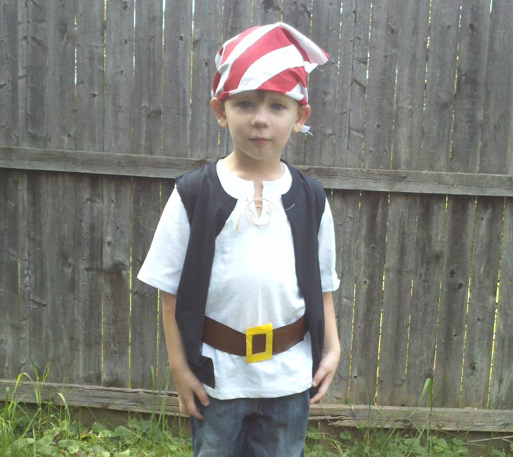 Quick and easy pirate costumes take kids to neverland for Easy homemade costume ideas for kids
