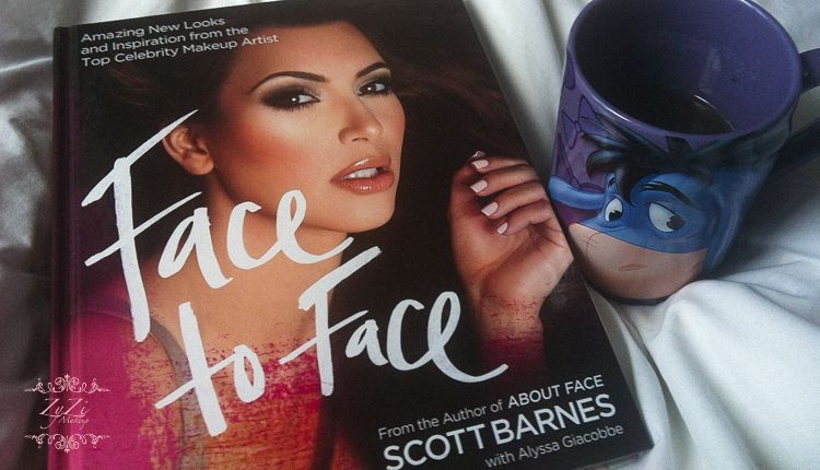 My lazy morning with Scott Barnes makeup book Face to Face and a cup