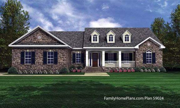 Ranch Style House Plans | Country style house plans, Ranch ... on french house plans with dormers, small house plans with dormers, country home plans with dormers,