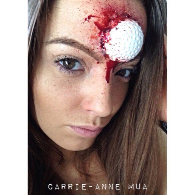 Golf ball! #sfx #mua #makeup #makeupartist #blood #halloween ...