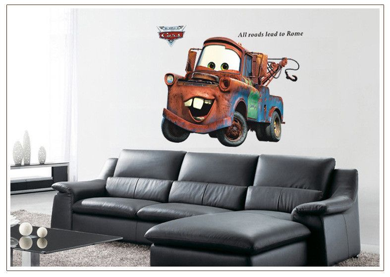 Disney Pixar Car Mater Removable Wall Stickers Decals Home Mural Art Kids  Decor Part 40