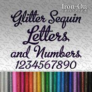 Glitter Name Text Personalised Iron on HotFix FABRIC T-SHIRT TRANSFER Sticker