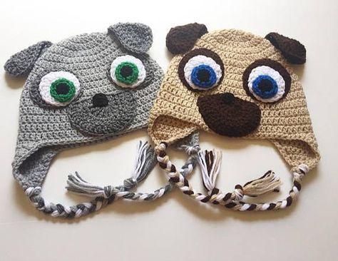 0192d318c4f4c4 Puppy Dog Pals Hats, Bingo and Rolly Crochet Beanies | hats ...