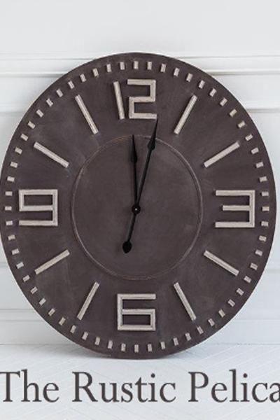 Clock - Large Wall Clocks   Home Decor   Pinterest   Huge clock ...