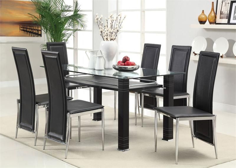 Aspen Modern Glass Chrome Dining Table Set  Dining Room Sets Magnificent Glass Dining Room Set Review