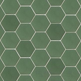 moss green hexagonal dolcer tile