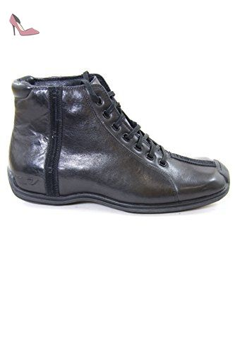 Diesel Leather Ankle Boots Lager Black EU41 - Chaussures diesel (*Partner-Link)