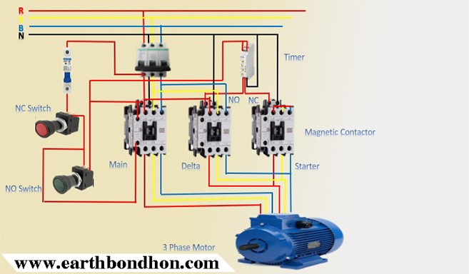 3 Phase Star Delta Motor Wiring Diagram Earth Bondhon Delta Simple Fractions Wire