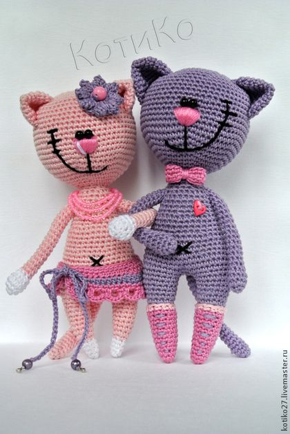 Cats sweet pair   Toys   Pinterest   Gato, Tejido y Patrones amigurumi