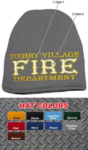 755449e8 Custom Fire Department Old Style Knit Cap $14.95 | Fire Department ...