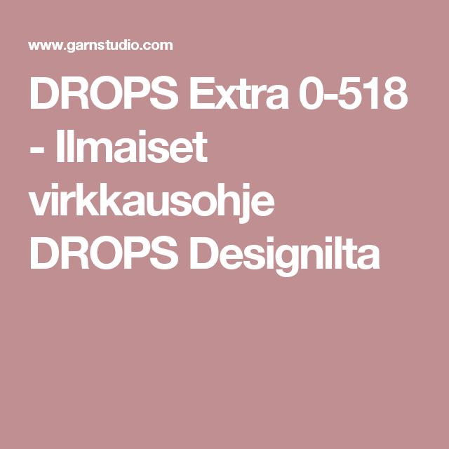 DROPS Extra 0-518 - Ilmaiset virkkausohje DROPS Designilta