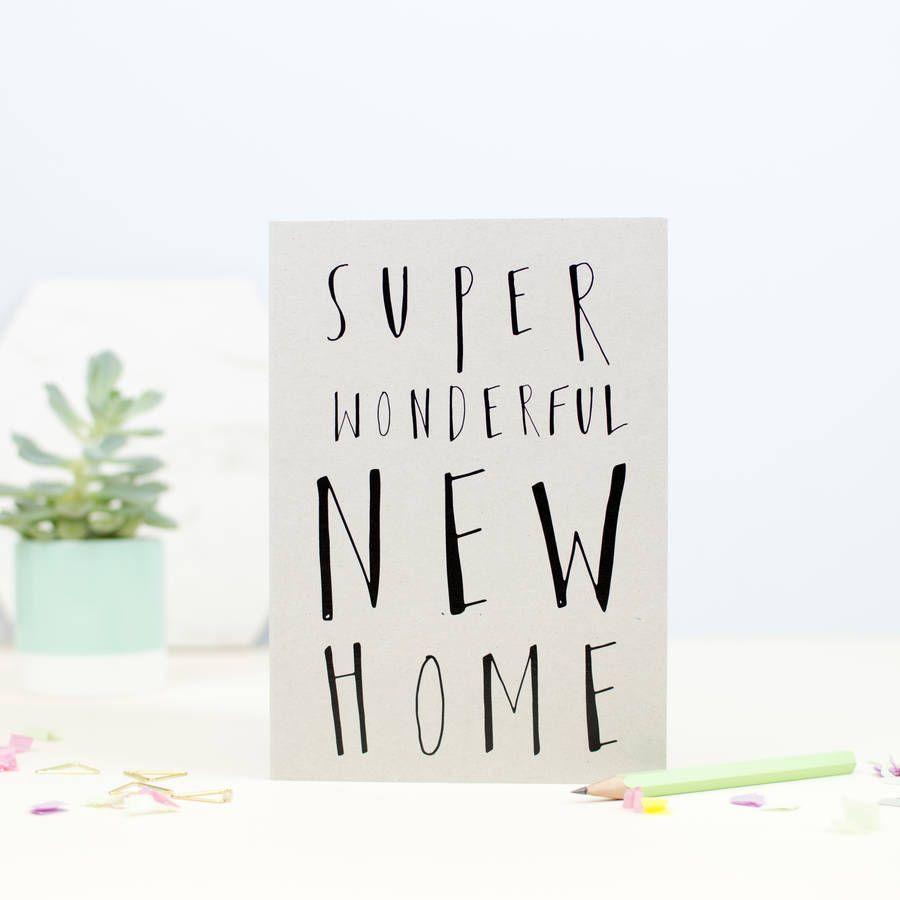 Super wonderful new home greetings card housewarming gifts super wonderful new home greetings card housewarming gifts kristyandbryce Images
