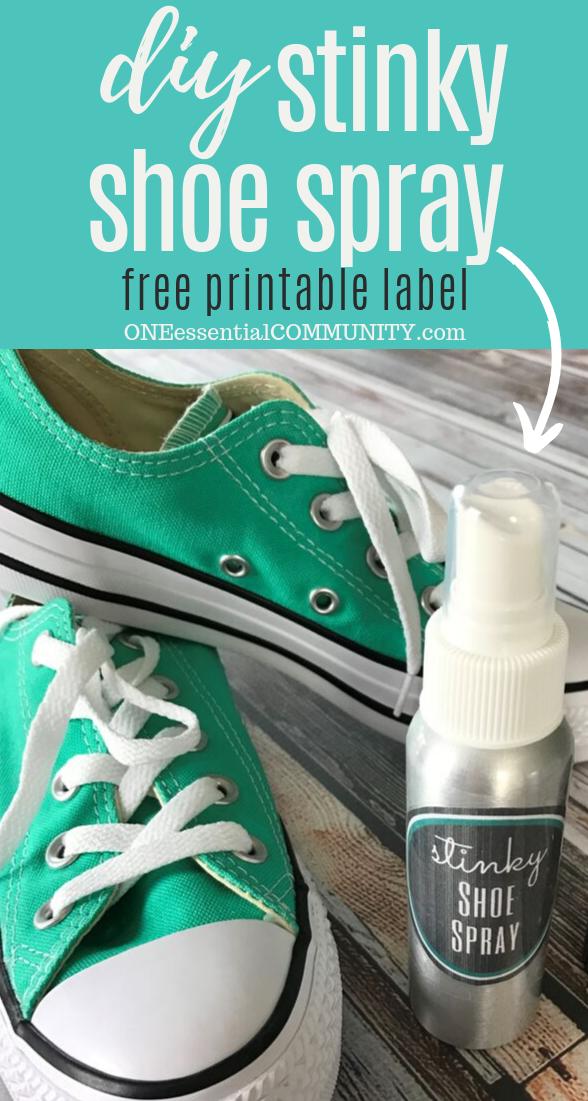 Diy Stinky Shoe Spray One Essential Community Shoe Spray Deodorize Shoes Stinky Shoes