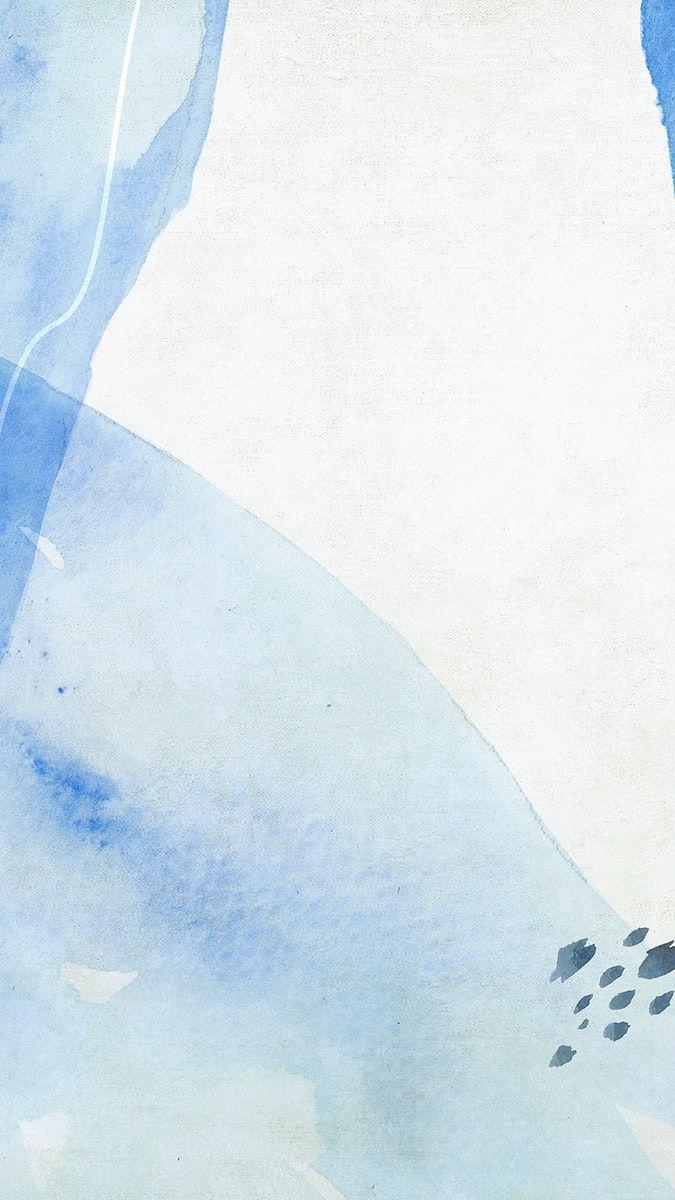 Blue watercolor Memphis mobile wallpaper   premium image by ...